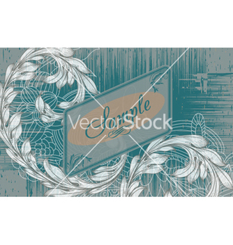 Free vintage label with floral vector - Kostenloses vector #262089