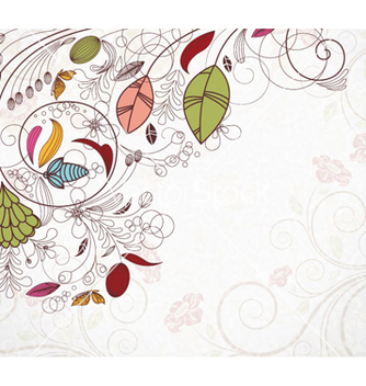 Free retro floral background vector - vector gratuit #262179