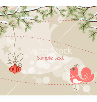 Free christmas greeting card vector - Kostenloses vector #262209
