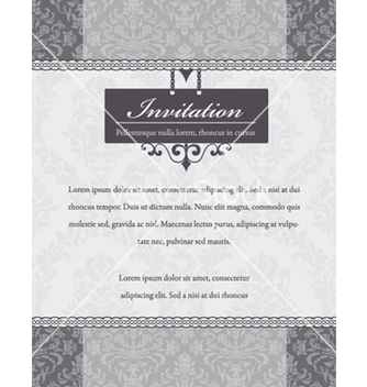 Free vintage invitation vector - бесплатный vector #262279