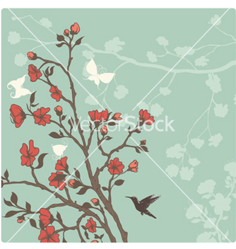 Free spring floral background vector - Free vector #262349