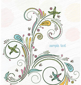 Free doodles floral background vector - Free vector #262409