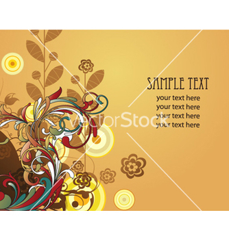 Free colorful floral background vector - vector #262469 gratis