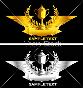 Free gold and silver vintage emblem vector - vector gratuit #262629