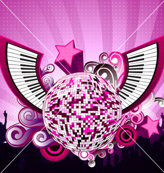 Free abstract music poster vector - Free vector #262669