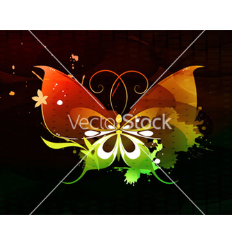 Free abstract butterfly vector - vector gratuit #262809