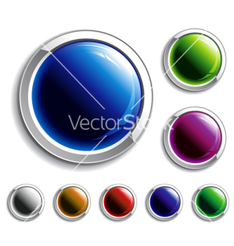Free colorful glossy buttons set vector - vector #262919 gratis