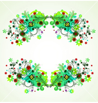 Free abstract floral frame vector - Free vector #263019