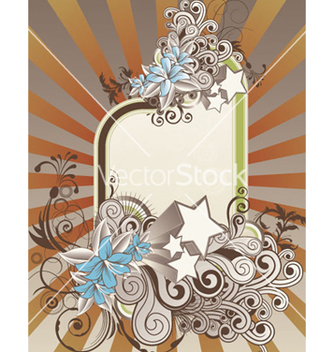 Free retro floral frame vector - Free vector #263149