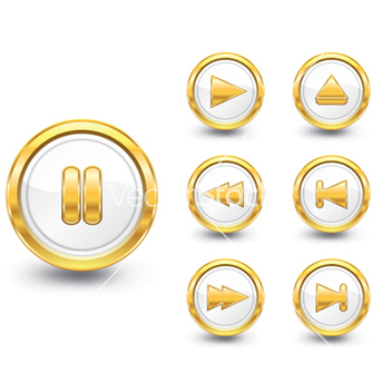 Free gold buttons set vector - Free vector #263179