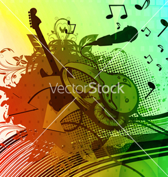 Free colorful grunge concert poster vector - Free vector #263189