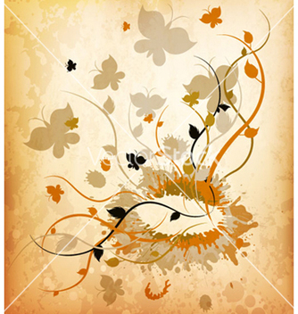 Free autumn grunge background vector - Kostenloses vector #263239