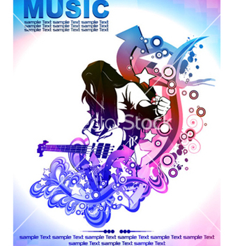 Free colorful concert poster vector - Free vector #263289