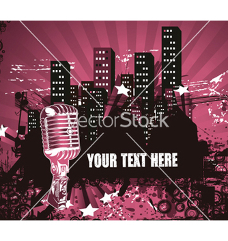 Free microphone with urban background vector - Free vector #263469