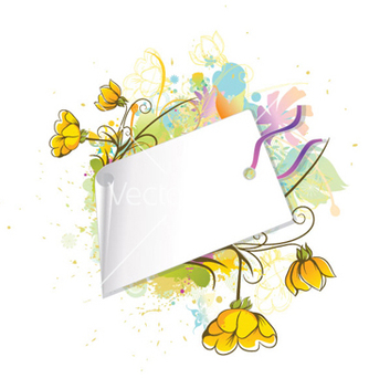 Free floral with shopping tag vector - Free vector #263549