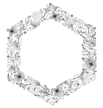Free abstract floral frame vector - Free vector #263689