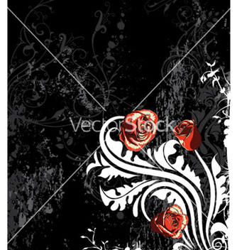 Free grunge background with roses vector - vector #263729 gratis