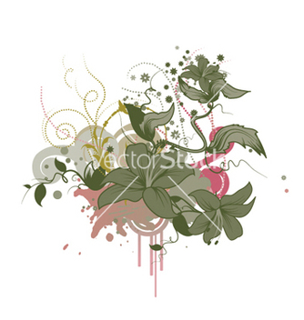 Free abstract floral design vector - vector gratuit #263919