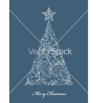 Free christmas tree vector - Free vector #263979