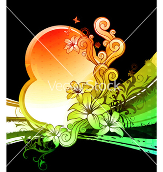 Free colorful floral design vector - vector gratuit #263999