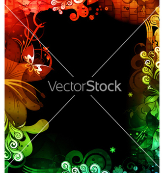 Free colorful floral background vector - бесплатный vector #264249