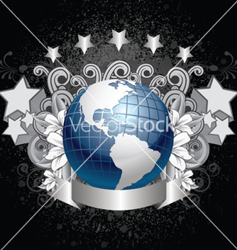 Free planet earth with grunge background vector - Free vector #264349