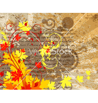 Free grunge autumn floral background vector - vector gratuit #264529