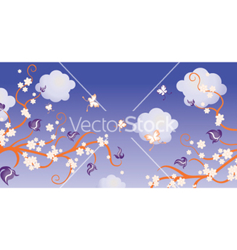 Free retro floral background vector - Free vector #264619