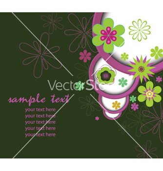 Free retro floral background vector - vector gratuit #264799