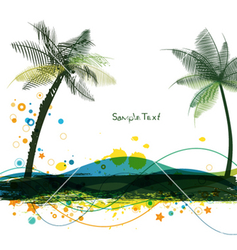 Free summer background vector - Free vector #264839