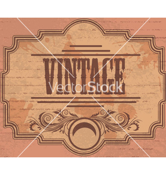Free vintage label vector - бесплатный vector #264849