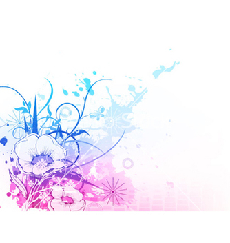 Free watercolor floral background vector - бесплатный vector #264859
