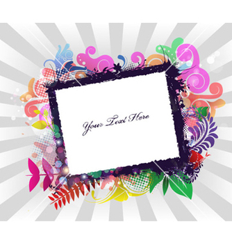 Free grunge frame with rays background vector - Free vector #264929