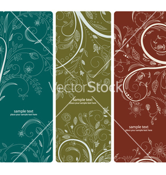 Free abstract floral banners set vector - Free vector #264939