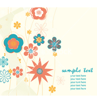 Free retro floral background vector - vector gratuit #264949