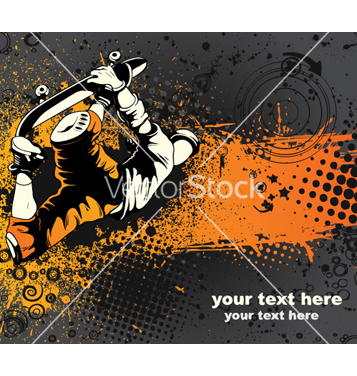 Skater Free com vector grunge - Free vector #264989