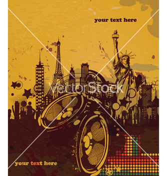 Free music poster vector - Free vector #264999