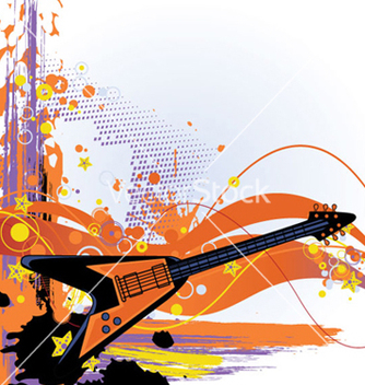 Free grunge music background vector - Free vector #265089