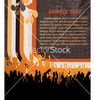 Free retro concert poster vector - Free vector #265329