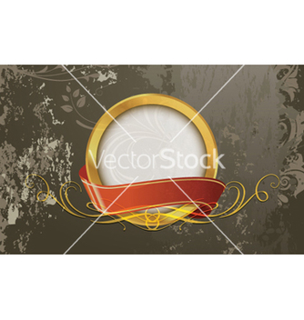 Free grunge gold label vector - Free vector #265539