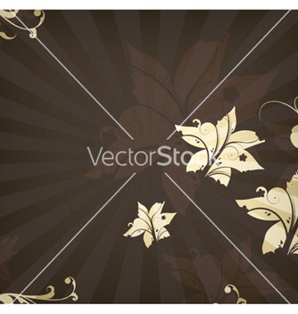 Free floral with rays background vector - vector #265569 gratis