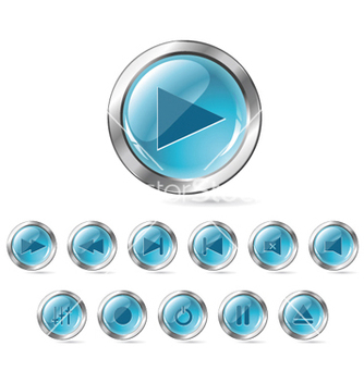 Free set of glossy buttons vector - Free vector #265599