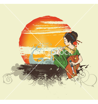 Free japanese tshirt design vector - бесплатный vector #266059
