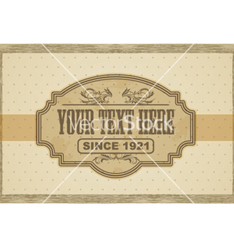 Free vintage label vector - бесплатный vector #266079