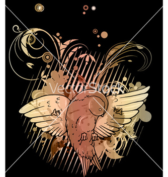 Free abstract bird with floral background vector - Kostenloses vector #266189