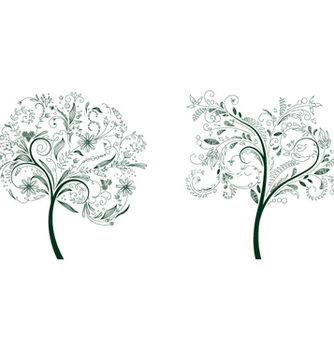 Free abstract trees vector - vector #266349 gratis