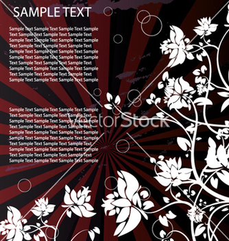 Free floral with grunge vector - vector #266429 gratis