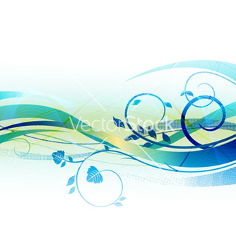 Free blue abstract background vector - Free vector #266469
