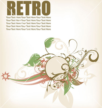 Free retro floral frame vector - Free vector #266489