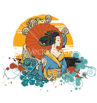 Free japanese tshirt design vector - бесплатный vector #266509